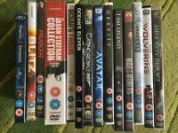 13 dvd plus 1 box set - some brand new