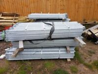 1.8m High Palisade Fencing Galvanised 3mm D section 50mm x 50mm rails (Per Mtr)