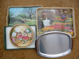 Trays for serving tea etc, various types and sizes