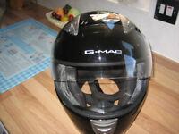 BLACK MOTORCYCLE HELMET SIZE-XXL