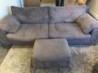 4 Seater Sofa and Pouffe