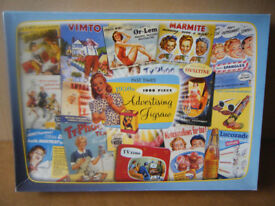 Past Times 1950's ADVERTISING JIGSAW, 1000 pieces. Excellent condition and complete.