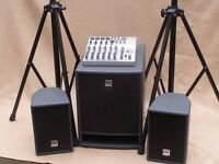 PA System – HK Audio Lucas Lightweight Ultra compact active system, plus mixer system