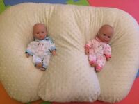Twins Feeding Cushion- Z Pillow. 6 in 1 uses, inc. breast and bottle feeding and baby support