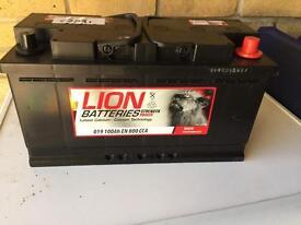 Lion high power 100ah Diesel 4x4 car battery.
