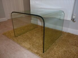Curved Glass Side Table