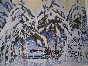 "A.J.Casson-""Snow Laden Spruce"" Limited Edition Print Kitchener / Waterloo Kitchener Area image 5"