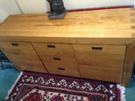 Real Wood Sideboard, Chest of draws