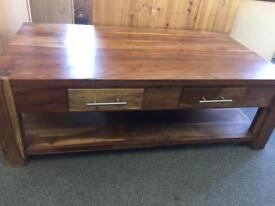 Indian Wood Coffee Table