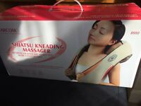 Kneading massager with rotating balls plus heat for neck, back, shoulder, arms, legs etc