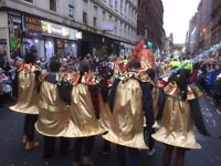 Gold Christmas Bell Costume Hire - great deal