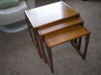 """G Plan """"Quadrille"""" Nest of Three Tables from the 1960s"""