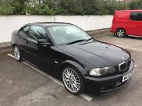 2002 BMW 325CI M SPORT, MANUAL, COUPE, BLACK, CARBON TRIM, BLACK LEATHER, READY TO DRIVE AWAY