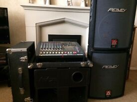 Complete 1200 watt pa system for sale.