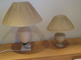 Two Lamps with the matching Lampshades