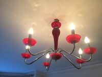 Stunning Red Glass Chandelier