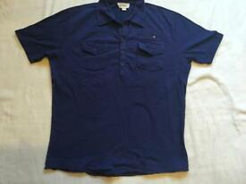 Diesel men's polo shirt muscles fit navy size S used £3