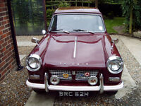 1970 Triumph Herald 1200 in Damson red, excellent interior, Runs well. A long and detailed history.