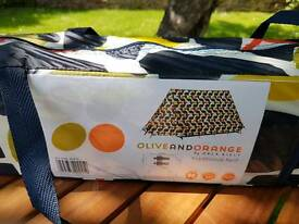 Brand new olive and orange tent by Orla Kiely