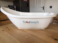 The Neat Nursery Co. Ergo baby bath with Johnsons & Johnsons baby toiletries