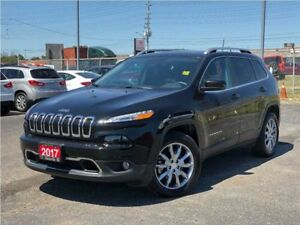 2017 Jeep Cherokee LIMITED**4X4**LEATHER**SUNROOF**NAV**BACK UP