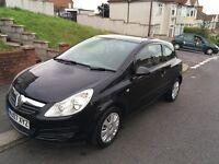 Corsa D 1.2 petrol, black, new shape, 12 months mot,