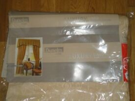 New Dunelm lined curtains 44 wide x 54 inches long 112 x 137cms CAN DELIVER LOCALLY £15 Postage £4
