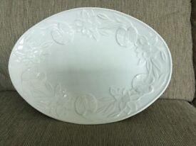 Large white decorative plate