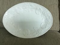 Large white decorative plate