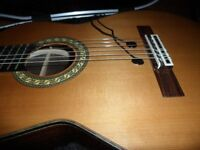 Admira Teresa All Solid Classical Guitar with Shadow Twin Transducer Pickup in Hard Case