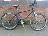 """mountain bike 15"""" frame 24"""" wheels fully working 21 speed cheap, swaps £45 apollo"""