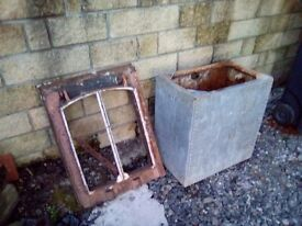 Old style water tank and skylight