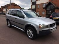 2004 Volvo xc90 D5 se AWD, automatic, 133k, 1 owner,2 keys, MOT feb 2018, 7 seater, SATNAV, £2650