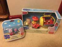 Peppa pig figures and ice cream van
