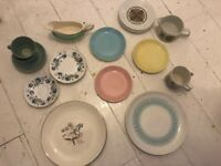 Job lot vintage crockery and kitchenware