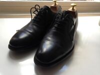 Cheaney & Sons Shoes: Alfred Capped Oxford in Black Calf Leather -70% on High Street Price