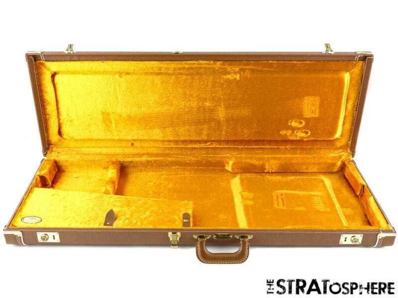 Vintage Fender Strat Tele G&G BROWN HARDSHELL CASE Stratocaster American Used*