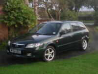 2003 Mazda 323 Green petrol manual 1.6L Hatchback 12 months MoT