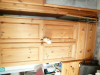 Pine wardrove==be with two drawers