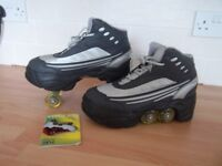 Quad KICK ROLLER Skates retractable WALKnROLL ,