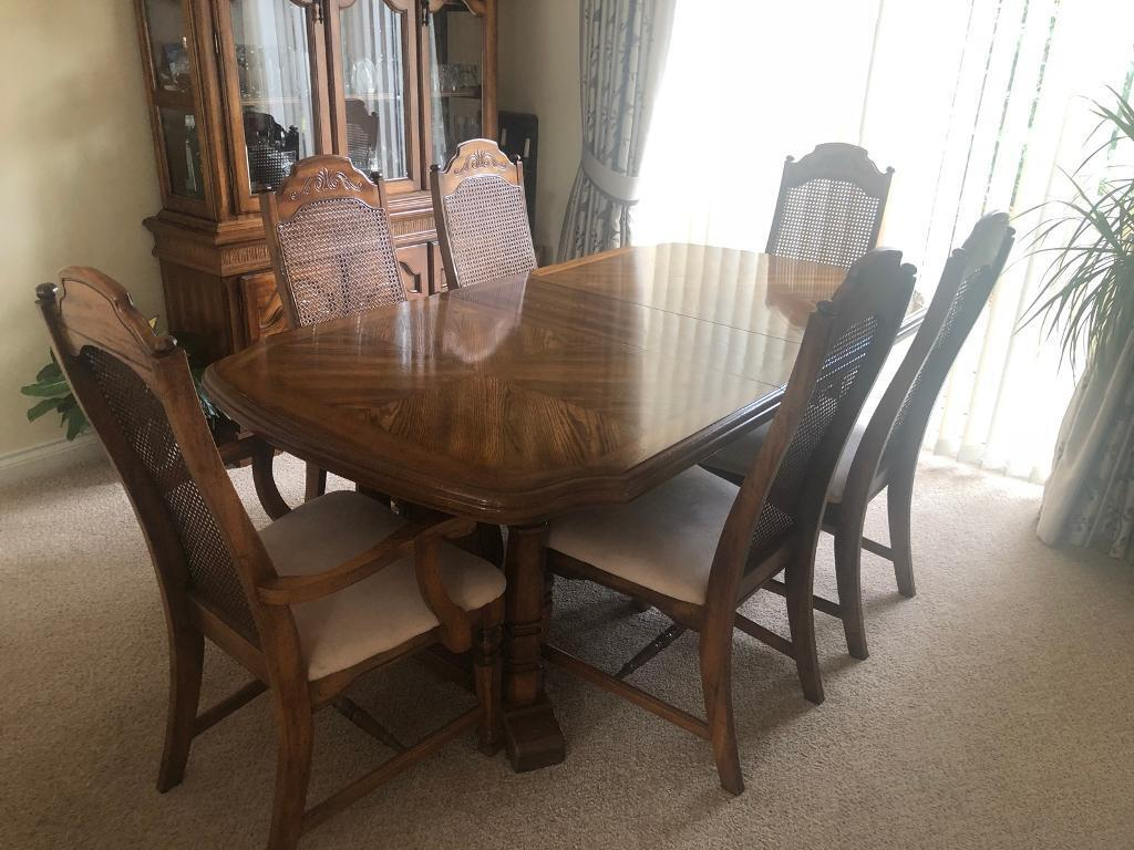 Dining Table Chairs And Welsh Dresser