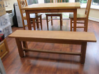 Pierson French Oak Table with Jasmin Chairs and Bench