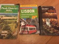 Travel books - Peak District, Lisbon and Madrid
