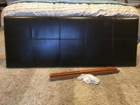 Faux leather kingsize headboard