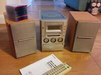 SONY MINIDISC / CD / CASSETTE / RADIO HIFI SYSTEM WITH REMOTE, MANUAL and MINIDISCS! - CMT-M100MD