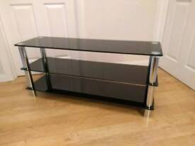 Glass tv stand unit, wide