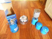Camping gaz equipment, stove, lantern ,kettle
