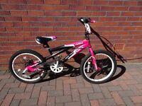 """Girls 20"""" Pink Muddyfox 360 girls BMX in good condition."""
