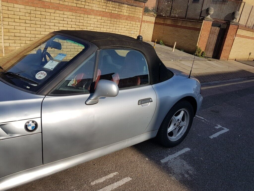 Bmw Z3 Roadster Automatic Drive Silver Sports Car 2 Seater Soft