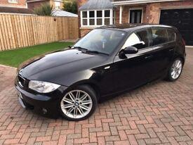 BMW 120D M SPORT IN SAPPHIRE BLACK, HALF LEATHER